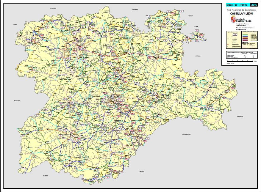 Mapa Castilla Y León.Mapa Carreteras Castilla Y Leon Mapa
